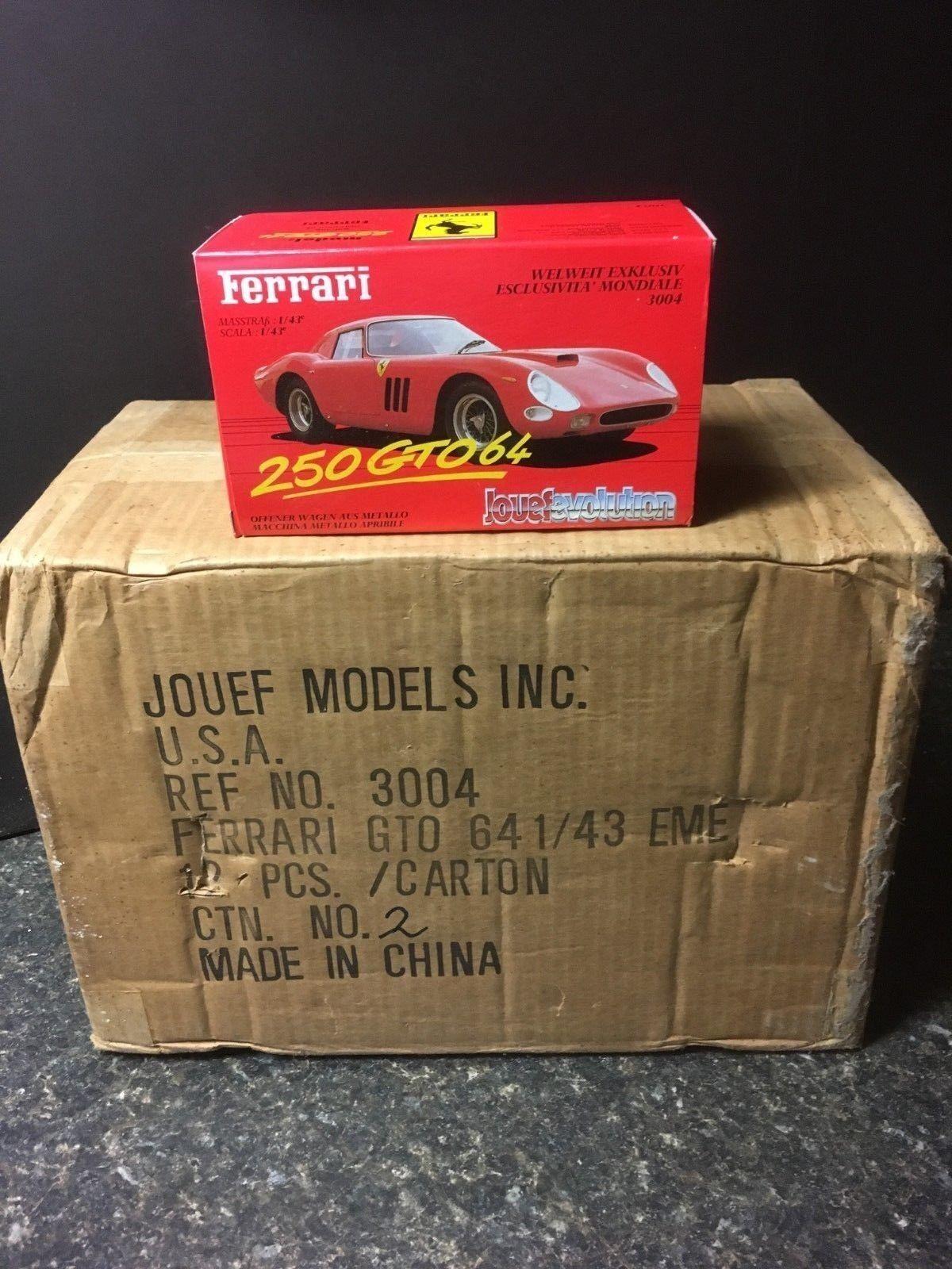 Jouef Evolution Ferrari 1/43 Scale 250 GTO64 DieCast Cars / 12 Total / Lot 4