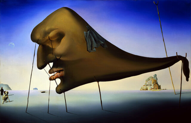 Salvador Dali Dream giclee 8X12 canvas print Reproduction of painting