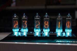 NIXT-CLOCK-IN14-Nixie-Clock-DIY-KIT-With-GPS-Power-Supply-Remote-Temp-RGB-Led