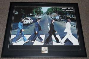 Ringo-Starr-Signed-Framed-30x39-Beatles-Abbey-Road-Poster-Display-JSA-LOA