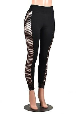 Leggings Womens White and Black Stripe Beetlejuice Topic Gothic Goth Vertical US