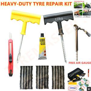 Moto Coche Furgoneta Neumático sin Cámara Kit de Reparación Pinchazos Tool Plug