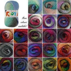 King-Cole-Riot-DK-Knitting-Yarn-Knit-100g-Ball-Acrylic-Wool-Mix