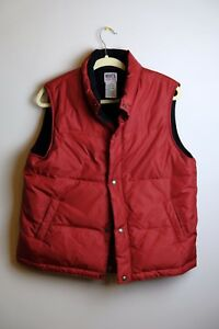 Roots-Athletics-Canada-Red-Goose-Down-Puffer-Winter-Vest-Mens-Large