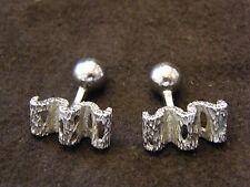 Boutons de Manchette en Argent Massif Silver Silber Années 60 Modernistes