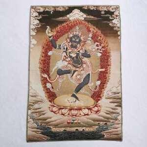 36-034-Tibet-Tibetan-Cloth-Silk-Rulai-Tara-Troma-Nagmo-Goddess-Tangka-Thangka-Mural