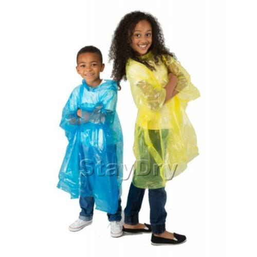 Staydry Waterproof Adult /& Child Rain Poncho Men /& Women Disposable Lightweight