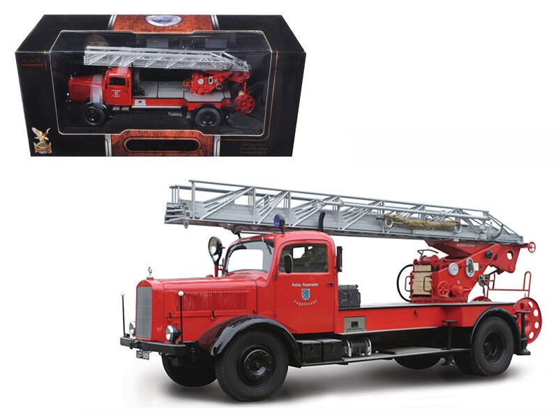 1944 Mercedes L4500F Fire Engine rosso 1 24 Diecast Car by Road Signature