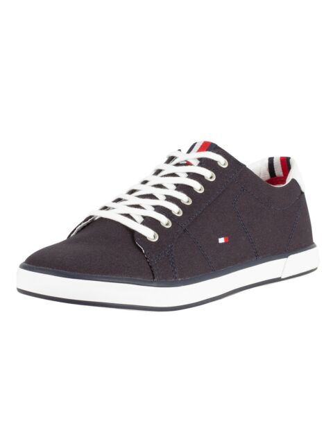 Tommy Hilfiger Harlow 1d Mens Midnight Navy Cotton Casual Trainers 43 EU