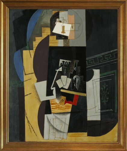Classic Framed Pablo Picasso Card Player Giclee Canvas Print