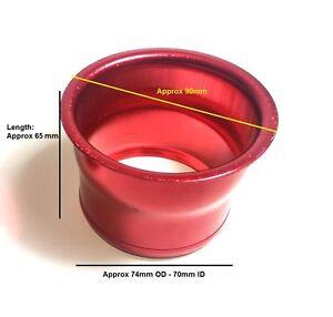 3-034-pulgadas-74mm-Aleacion-Aire-Frio-RAM-Alimentar-Induccion-Trumpet-cono-ajuste-par-De-Rojo