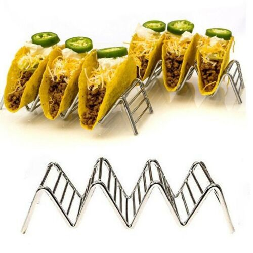 Stainless steel Mexican pizza taco holder stainless steel tampon 201 material#nr