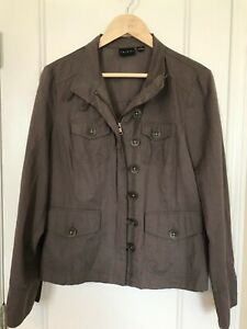 Tribal Brand Women's Jacket Size 12 Zip And Button Front Zip Pockets