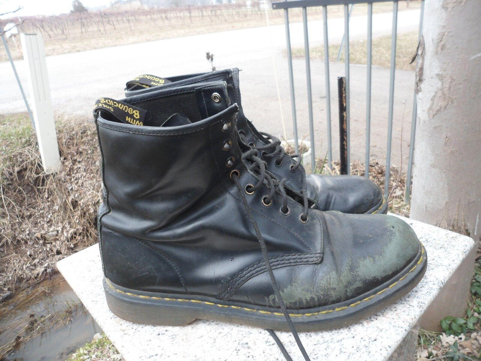Dr Martens Men's Size Size Men's 13 Air Wair Black 8 Eye Vintage Classic Heavy Boots UK 80d1a8