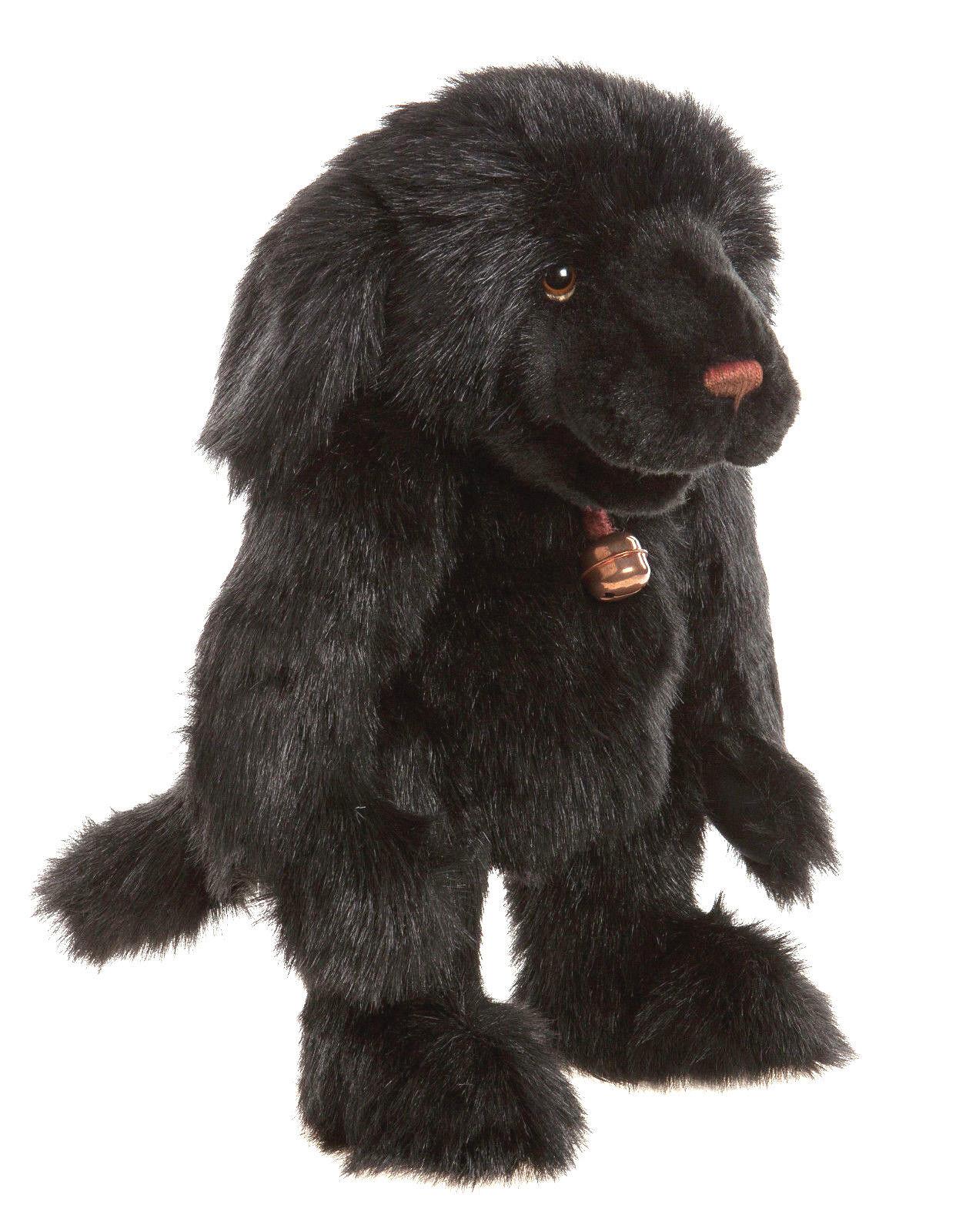 Handpuppe Charlie Charlie Charlie Bears großer schwarzer Labrador Hund Ruff ca. 45cm groß 5a4bc1