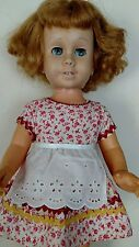 """Vintage Mattel Chatty Cathy Doll 20"""" Tall Blonde Mute TLC as is"""