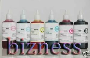 6-x-100-ml-Bottles-Ink-for-HP02-HP3110-8230-C5180-C7180
