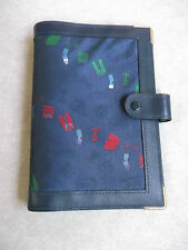LEATHER FABRIC YUPPIE 80S EXECUTIVE STANDARD PERSONAL FILE ORGANISER NEW 25mm D