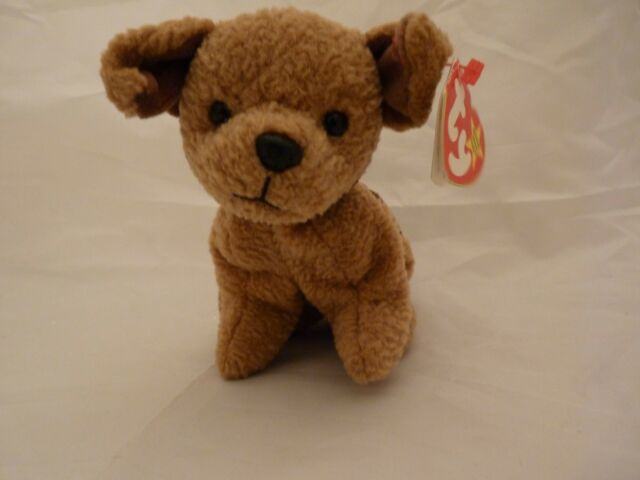 Ty Beanie Babies Baby Tuffy The Terrier Brown Dog MWMT DOB October ...