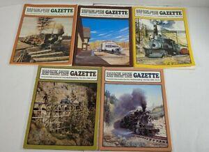 Narrow-Gauge-And-Short-Line-Gazzette-Lot-Of-5-1984-1985-1986