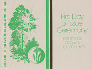 1764-1767-First-Day-Ceremony-Program-15c-American-Trees-Stamps