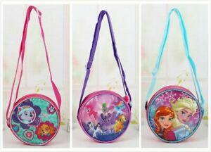 Kids-Girls-Circle-Round-Cross-body-Shoulder-bag-Purse-Wallet-Handbag-Messenger