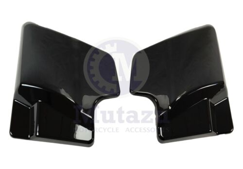 Mutazu Black Side Covers for Harley Touring Road King Street Electra Glide 09-16