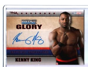 TNA-Kenny-King-2013-Impact-Wrestling-GLORY-RED-Autograph-Card-SN-7-of-50