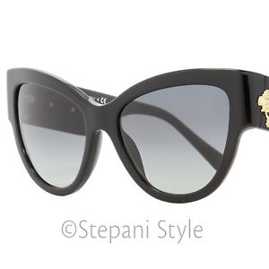 e47749dadb73b Image is loading Versace-Cateye-Sunglasses-VE4322-GB1-11-Black-Gold-
