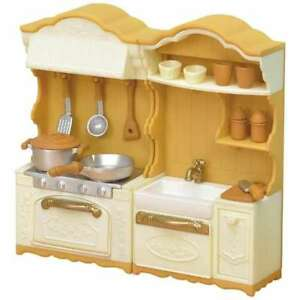 Delicieux Image Is Loading Sylvanian Families Calico Critters Furniture  Kitchen Stove Sink