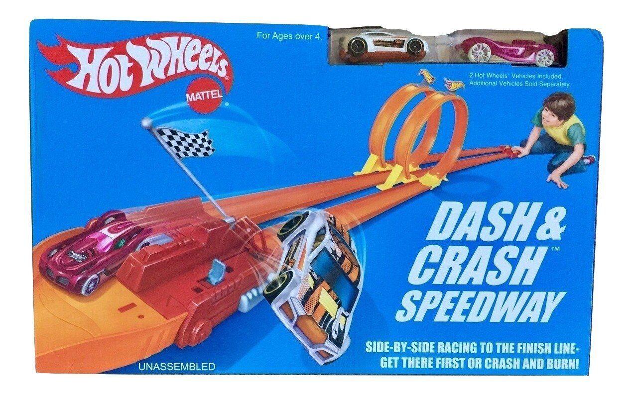 mejor moda Hot Wheels accidente De Tablero & Retro Speedway Speedway Speedway Trackset Juguete Jugar mytoddler Nuevo  nuevo listado