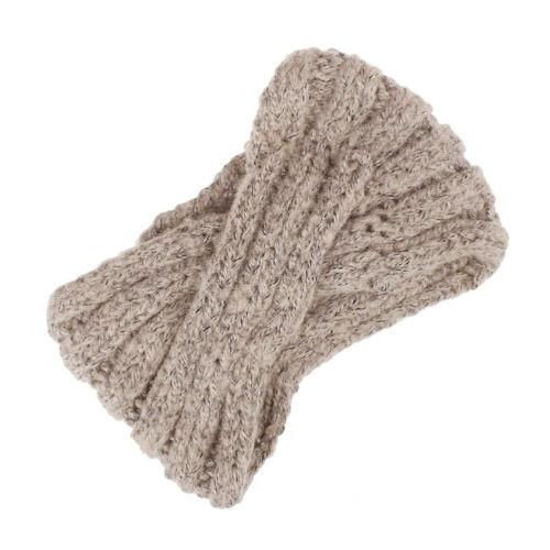 Damen Strick Stirnband Haarband Winter Herbst Ohrenwärmer Kopfband Gehäkelt Mode