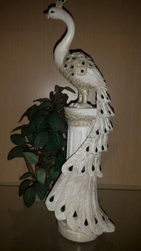 Pfau Figur Dekoration Geschenk Skulptur 35cm