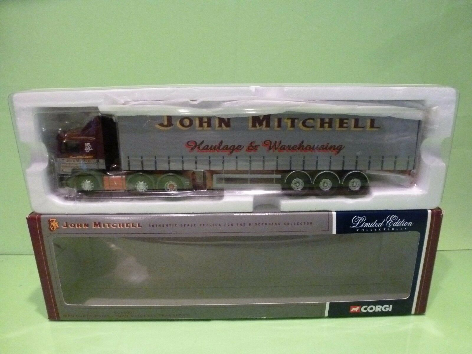 CORGI TOYS MAN CURTAINSIDE - JOHN MITCHELL TRANSPORT - 1 50 - EXCELLENT  IN BOX