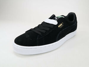 177e1284833 Image is loading Puma-Suede-Classic-Men-Shoes-Black-White-Sneakers-