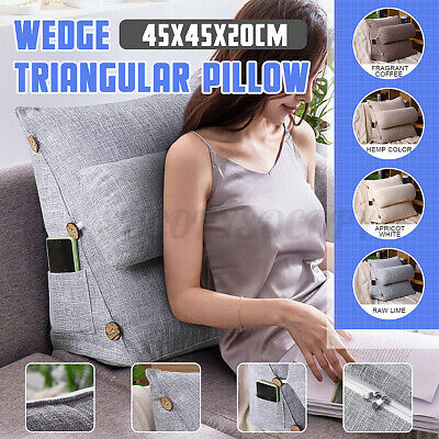 59/'/' Wedge Lumbar Cushion Pillow Backrest Sofa Headboard Bed Rest Neck Support