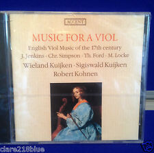 NEW CD Music for a Viol English Viol Music for the 17th Century