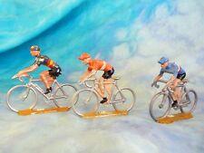 3 figurines de cyclistes en aluminium COFALU - SALZA ? Lot 9 (ref V26)