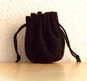 Mittelalter-LARP-Rollenspiel-Wuerfelbeutel-Geldbeutel-Beutel-schwarz-25cm-Wolle