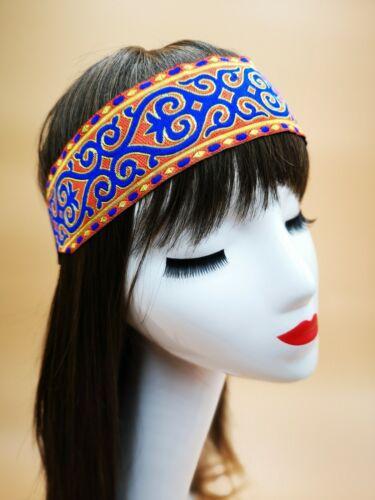 Chunky Orange Hippy Bohemian Straight Thick Hair HeadBand Boho Sport Headband