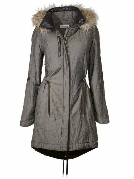 Linea Tesini señora talla 40 Parka abrigo chaqueta  vellón fell cuello caqui nuevo  Entrega rápida y envío gratis en todos los pedidos.