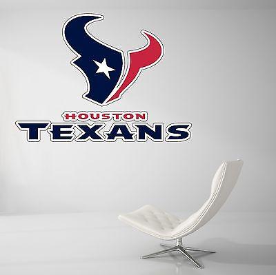 Houston Texans NFL Football Wall Decal Vinyl Decor Room Car Sticker Art J43