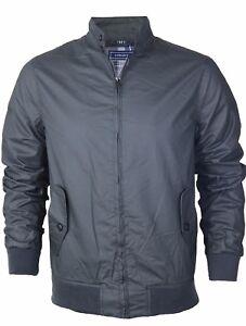Para-hombre-Harrington-Jacket-reactivo-100-Algodon-Encerado-Impermeable-Invierno-Abrigo-Bomber