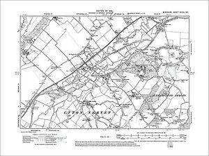 OLD ORDNANCE SURVEY MAP WYLDE GREEN 1913 BIRMINGHAM ERDINGTON SUTTON COLDFIELD