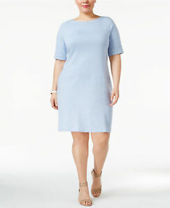 c2d9682dbaa Karen Scott Plus Size Elbow Sleeve Casual T-Shirt Dress 2X Light ...