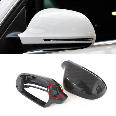 1:1 Replacement Carbon Rear View Mirror Cover For Audi A5//S5 B8 Coupe 2008-2009