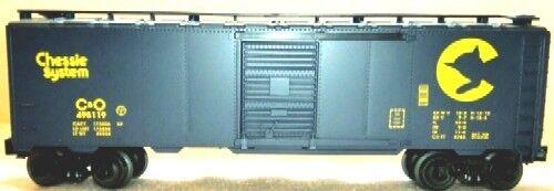 Lionel 17245 StdO Full Scale 50' Dark blu w/chessie kitten C&O DD Boxcar 495119