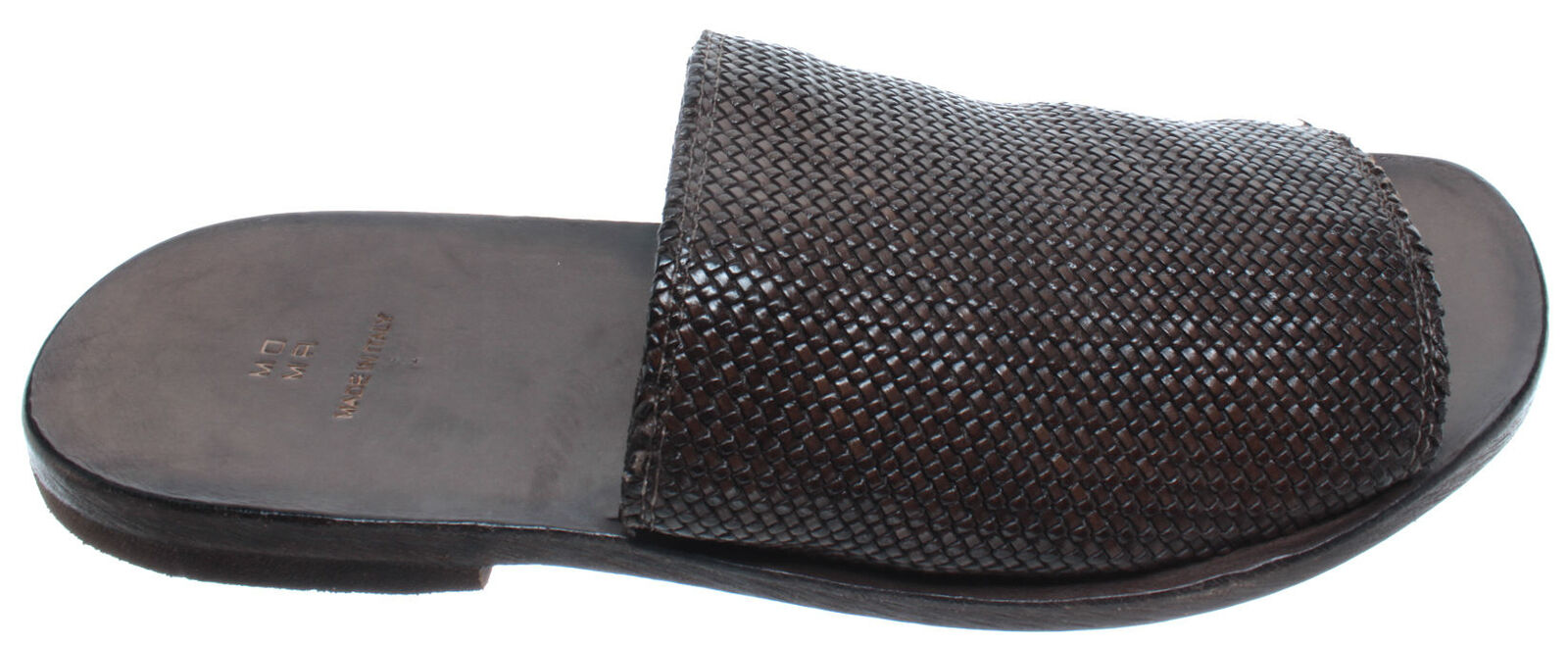 MOMA Sandales Chaussons Homme 23902-XB Canguro Da Intreccio Cuir marrón Nouveau
