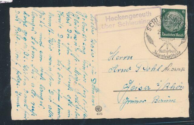 00912) Landpost Ra2 Heckengereuth über Schleusingen, Karte 1940