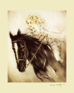 POVERTY AND PRIVILEGE PEASANT LADY RIDING HORSE PAINTING BY HEYWOOD HARDY REPRO